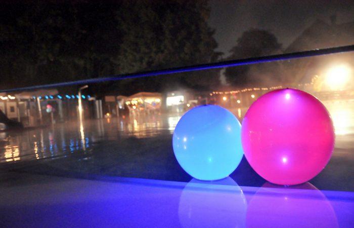Freibad Kaiserswerth  in der Kaiserswerther Sommernacht 30.8.2014