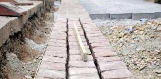 Bauarbeiten auf der Fliednerstrasse